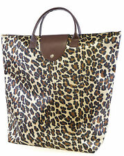 WHOLESALE JOB LOT 12 x LEOPARD FOLDING FOLDABLE TOTE SHOPPING BAG FOR LIFE