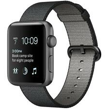 Apple Watch Series 2 42mm Space Gray Aluminum Case Black Woven Nylon MP072