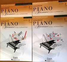 FABER Accelerated Piano Adventures for the Older Beginner 4 books pack BOOK 1
