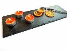 Slate candle holder, tealight holder, candle tray, handmade luxury, made in UK