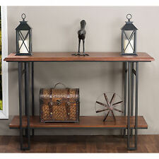Newcastle Wood and Metal Console Table Furniture Living Room Entry Accent Decor