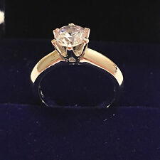 2 CT ROUND CUT DIAMOND SOLITAIRE ENGAGEMENT RING 18K WHITE GOLD ENHANCED