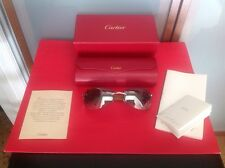 CARTIER WOMANS  $4000 18KT WHITE GOLD SUNGLASSES LIMITED EDITION NEW IN BOX