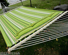 "Outsunny75"" x 55"" 2-Person XL Green Camping Hammock Bed Pillow Swing Bed Chain"