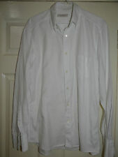 ERMENEGILDO ZEGNA SMART ELEGANT WHITE BUTTON-DOWN L/SLEEVED SHIRT L