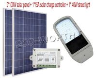 200W Solar Street Light System Chip &2pc100W Solar Panel&Charge Controller