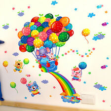 Removable fly Balloon Animals Room Decal Wall Sticker Vinyl Mural Art Home Decor