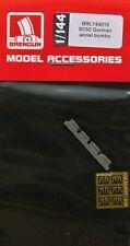 Brengun brl144019 1/144 PE & Résine Allemand SC50 BOMBES aériennes (4 pcs.)