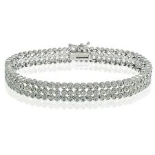 1ct TDW Diamond Three Row Tennis Bracelet (I-J, I3)