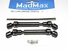 YY-MADMAX AXIAL SCX10 Hardened CARBON STEEL CENTER DRIVE SHAFTS AXLES (2)