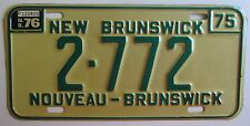 New Brunswick 1976 PALINDROME LOW NUMBER License Plate SUPERB QUALITY # 2-772
