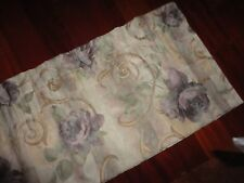 CROSCILL CHAMBORD CASSIS AMETHYST SAGE FLORAL BLOUSON TAILORED VALANCE 17 X 86