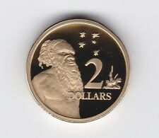1988 Australia Two Dollar $2 Aboriginal Elder PROOF Coin ex Proof Set