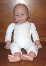 "Kingstate Baby Doll Polyester Filled Cloth Body Vinyl 17"" Beautiful Blue Eyes"