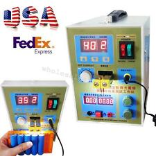 USA LED Dual Pulse Spot Welder Machine Battery Charger 800A 0.1-0.2mm Fast Ship