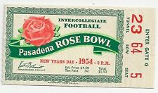 1954 Michigan State MSU UCLA Rose Bowl football ticket stub Biggie Munn