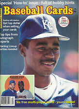 Tom Gordan Cover Baseball Card Magazine December, 1989 + Cards