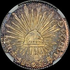 """DAZZLING NGC MS65 MEXICO 1860 MO FH GC 1/2R HALF REALE """"FINEST"""" @ NGC & PCGS"""