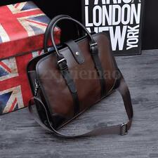 Men Business Leather Handbag Messenger Bag Shoulder Crossbody Briefcase Laptop