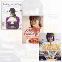 Lorraine Pascale Collection 3 Books Set Baking Made Easy,A Lighter Way to Bake
