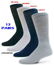 12 Pairs Physicians Choice VENTILATED Diabetic Variety Crew Socks 10-13 US Made