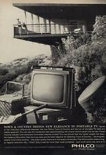 1962 Philco Television Portable Town and Country TV  PRINT AD