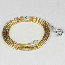 """16"""" Two Color Pure 925 Silver Chain, Gold Plated NECKLACE Jewelry (ch010)"""