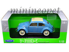 WELLY 18040 1950 VW VOLKSWAGEN CLASSIC OLD BEETLE SPLIT WINDOW 1/18 BLUE
