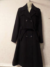 New De La creme women ladies wool winter warm cashmere trench 107cm long coat