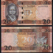 South Sudan 20 Pounds 2015, Pick New Mint Unc