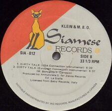 """12"""" Maxi   Klein & M.B.O. – Dirty Talk    Italo-Disco"""