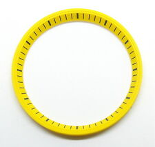Yellow SEIKO 7002 Chapter Ring (minute track- mod parts) Brand New