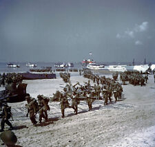 7x5 Gloss Photo ww743 Normandy D-Day Jb Juno Beach D-Day