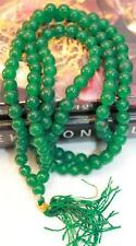 F679 Tibetan 108 Prayer Mala Green Onex Glass Bead for Meditation Made in Nepal