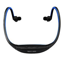 Sport Music MP3 Player Running Blue Neckband Headset Headphone 32GB Micro SD TF
