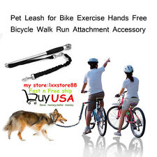 Bicycle Walk Run Attachment Accessory Dog Pet Leash for Bike Exercise Hand Free