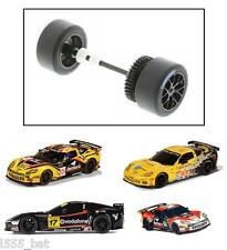 New Scalextric W10212 Chevrolet Corvette C6R Rear Wheels, Tyres, Axle & Gear