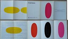 Lucio Fontana invito del 1967 Galleria d'arte la Bussola Torino