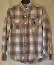 Slade Wilder Destroy Traditon Plaid Button Front Small Flannel Lumberjack Shirt