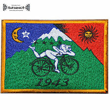 ॐ AUFNÄHER PATCH goa psy bicycle tRiP Albert Hofmann LSD Acid 1943 25 ॐ