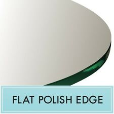 "42"" Inch Clear Round Tempered Glass Table Top 1/4"" thick - Flat polish edge"