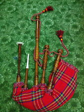 TC SCOTTISH  HIGHLAND BAGPIPE ROSE WOOD FULL SET/GAITA/DUDELSACK/BAGPIPES