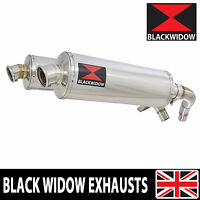 ST1100 ST 1100 Pan European Exhaust Stainless Silencers Mufflers 400mm Oval