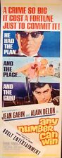 ANY NUMBER CAN WIN MELODIE EN SOUS-SOL insert movie poster 14x36 DELON GABIN