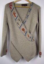 Inti Alpaca Peru 100% Baby Alpaca Embroidered Sweater; L XL