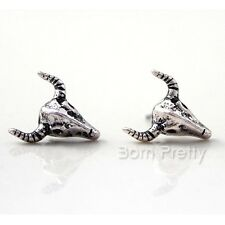 1Pair Women Tribal Earrings Bull Head Pattern Design Ear Studs Jewelry Gift