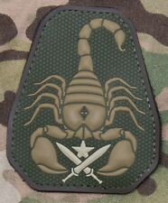SCORPION UNIT PVC Tactical Combat Badge HOOK Morale Military Patch - Multicam