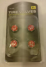Honda Tyre Valve Dust Air Cap Alloys Wheel Chrome Caps Set of 4 HOSS