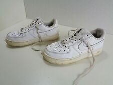 Nike - AIR FORCE ONE AF1 White Leather Low Trainers Triple White 5UK 38EU