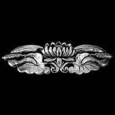 LOTUS Oberon Design PEWTER BARRETTE jewelry hair clip hand-cast USA PB75